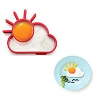 halpa -uutuus sunnyside aurinko pilvi muna rengas silikoni paistamiseen munakas ympyrä 13,8 x 11 x 2,4 cm