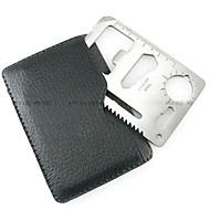 כרטיס אשראי כלי הישרדות פלדת על חלד כסף יח