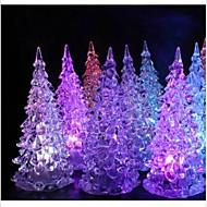 kristalli joulukuusi värikäs yövalo lamppu joulukoristeita