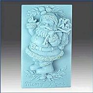 billige -Jul Julenissen  kake sjokolade silikon Form kake dekorasjon verktøy, l8.6cm * b5.6cm * h3.3cm