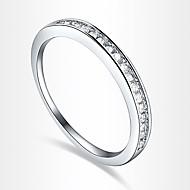 Feminino Maxi anel Luxo Amor Coração Europeu Zircão Zircônia Cubica Prata Chapeada Imitações de Diamante Jóias Para Festa Diário Casual