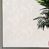 půvabná země whitw bambusových listů okenní fólie - 0,5 x 5 m (1,64 x 16,4 ft)