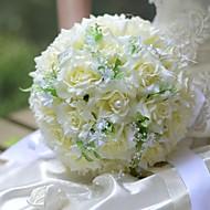 """Χαμηλού Κόστους Έκπτωση-Λουλούδια Γάμου Μπουκέτα Γάμου Μετάξι 12,2 """" (περίπου31εκ)"""