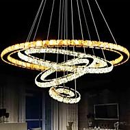 billige Takbelysning og vifter-LightMyself™ Sirkelformet Anheng Lys Nedlys Krom Krystall Krystall, Pære Inkludert, LED 110-120V / 220-240V LED lyskilde inkludert / Integrert LED