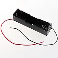 3.7v 1 x 18650 caixa capinha suporte da bateria (2pçs)