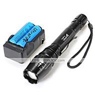 halpa -LT-0005   5 Mode  CREE XM-L U2  Zoom LED  Flashlight(2000LM. 2*18650. Black)