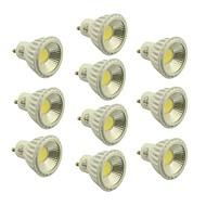 billige Spotlys med LED-5W GU10 LED-spotpærer 1 COB 400-450 lm Varm hvit / Kjølig hvit / Naturlig hvit Dimbar AC 220-240 / AC 110-130 V 10 stk.