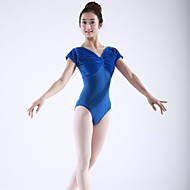 cheap Dancewear & Dance Shoes-Ballet Tops Tights Women's Cotton Velvet Short Sleeve