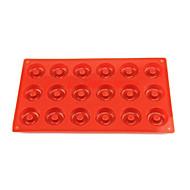 お買い得  ケーキ型-18ホールドーナツ型、ケーキ、チョコレート、マフィンカップケーキ型、シリコーン29×17×1センチメートル(11.4×6.7×0.4インチ)