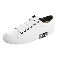 baratos Sapatos Masculinos-Para Meninos / Para Meninas-Tênis-Conforto / Arrendondado-Rasteiro-Preto / Azul / Branco-Lona