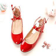 baratos Sapatos de Tamanho Pequeno-Mulheres Sapatos Sintético Primavera / Verão Sem Salto Cadarço Branco / Vermelho / Rosa / Ao ar livre / Escritório e Carreira / Festas & Noite