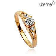 Gyűrűk Születési kövek Esküvő / Napi Ékszerek Kristály / Ötvözet Női Karikagyűrűk9 / 8½ / 9½ Aranyozott