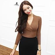 Žene Dugih rukava Pullover Jednobojni