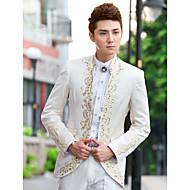 Tuxedos Uski kroj Standardni kroj Ovratnik Šiljasti Mandarin Collar Na jedno dugme No Button Pamuk Poliester Vuna i poliester mješavina