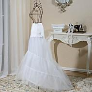 Casamento Festa / Noite Anáguas Elastano Tule Comprido Sereia e Trompete Clássico com