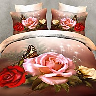 Betterhome Duvet Cover Duvet Cover Set 3Dactivity Dyeing Painting Fastness Thicken Warm 4Pcs