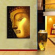 お買い得  プリント-LEDキャンバスアート 宗教&精神世界 1枚 プリント 壁の装飾 ホームデコレーション