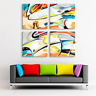cheap Prints-E-HOME® Stretched Canvas Art Abstract Decoration Painting Set of 4