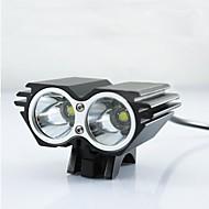 billige Sykkellykter og reflekser-Hodelykter Sykkellykter Frontlys til sykkel LED LED Sykling Nedslags Resistent Oppladbar Vanntett Enkel å bære LED Lys 18650 2500 Lumens