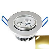 baratos Luzes LED de Encaixe-SENCART 300-350lm Lâmpada de Teto Encaixe Embutido 3PCS Contas LED COB Decorativa Branco Quente 85-265V / CE / FCC