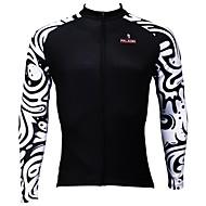 ILPALADINO Herre Langærmet Cykeltrøje - Sort / Hvid Cykel Trøje, Hurtigtørrende, Ultraviolet Resistent, Åndbart