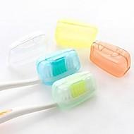 Material de Qualidade Alimentar Protetor/Porta Escova de Dentes Prova-de-Água Portátil Acessórios de Toalete Mini Tamanho Antibacteriano