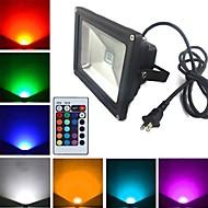 tanie Naświetlacze-1900 lm Reflektory LED 1 Koraliki LED LED wysokiej mocy Zdalnie sterowana RGB 85-265 V
