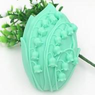 em forma de flor ferramentas fondant bolo de chocolate bolo de silicone molde de decoração, l9.5cm * * w7cm h3.3cm