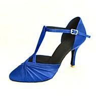 billige Moderne sko-Dame Moderne Ballett Sateng Høye hæler Spenne Kustomisert hæl Rosa Blå Gul Fuksia Lilla Kan spesialtilpasses