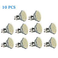 billige Spotlys med LED-3W 300-350 lm GU10 LED-spotpærer 60 leds SMD 3528 Varm hvit Kjølig hvit AC 220-240V