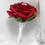 Kwiaty ślubne Róże Butonierki Ślub Party / Wieczór Satyna