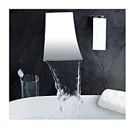 Contemporary Roman Tub Waterfall with  Brass Valve Two Holes Single Handle Two Holes for  Chrome , Bathtub Faucet