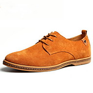 Men's Shoes Suede Spring Summer Fall Winter Comfort Oxfords Lace-up For Casual Navy Black Brown Green Khaki