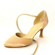 billige Moderne sko-Dame Moderne sko / Standard sko Sateng Høye hæler Spenne Kustomisert hæl Kan spesialtilpasses Dansesko Gul / Fuksia / Lilla