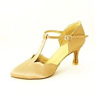 billige Moderne sko-Kan spesialtilpasses-Dame-Dansesko-Moderne Standard sko-Sateng-Kustomisert hæl-Svart Blå Gul Rosa Lilla Rød Hvitt Fuksia