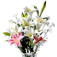 Gren PU Liljer Bordblomst Kunstige blomster 8 x 20 x 78(3.15'' x 7.87'' x 30.71'')