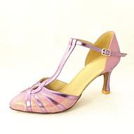 billige Kustomiserte dansesko-Dame Moderne sko / Standard sko Glimtende Glitter / Paljett Høye hæler Spenne Kustomisert hæl Kan spesialtilpasses Dansesko Sølv / Blå / Gull