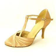 baratos Sapatilhas de Dança-Mulheres Sapatos de Dança Moderna / Dança de Salão Cetim Salto Alto Presilha Salto Personalizado Personalizável Sapatos de Dança Amarelo / Fúcsia / Púrpura