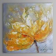 Pintados à mão Floral/Botânico Quadrada Tela de pintura Pintura a Óleo Decoração para casa 1 Painel