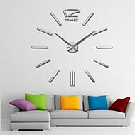 """ベッドルームリビングルームのための40の """"H巨大なDIY 3Dミラーアクリル表面ステッカー壁時計"""