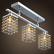 cheap Ceiling Lights-Lightinthebox Flush Mount Ambient Light Chrome Metal Crystal 110-120V / 220-240V / G9