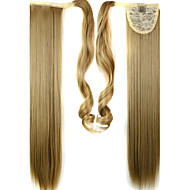 High Quality Synthetic 24 Inch Long Clip In Ponytail Straight Hair Piece