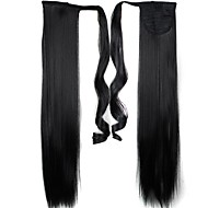 Excellent Quality Synthetic Long Straight Hair Piece 24 Inch Clip In Ponytail