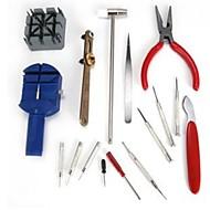 16-delig setcombinatieset reparatieset / klok / horlogereparatie / verstelband / tafelterugslag open