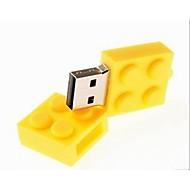 2GB USB แฟลชไดรฟ์ ดิสก์ USB USB 2.0 พลาสติก ขนาดกระทัดรัด brick
