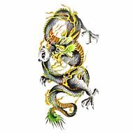 1pc Men's Waterproof Temporary Tattoos Back/Arm/Leg Tattoos Black Dragon Body Tattoos(18.5cm*8.5cm)