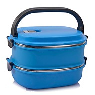 1 Kitchen Plastic Stainless Steel Lunch Box