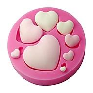 fondan kalp şekli silikon kalıp, el sanatları kalıp, dekoratif kek kalıbı