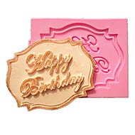 Şeker şeker mutfak pişirme için mutlu doğum günü kek kartı fondan kek kalıpları dekorasyon çikolata kalıp