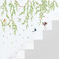 preiswerte -Botanisch Cartoon Design Personen Wand-Sticker Flugzeug-Wand Sticker Dekorative Wand Sticker,Vinyl Stoff Waschbar AbziehbarHaus